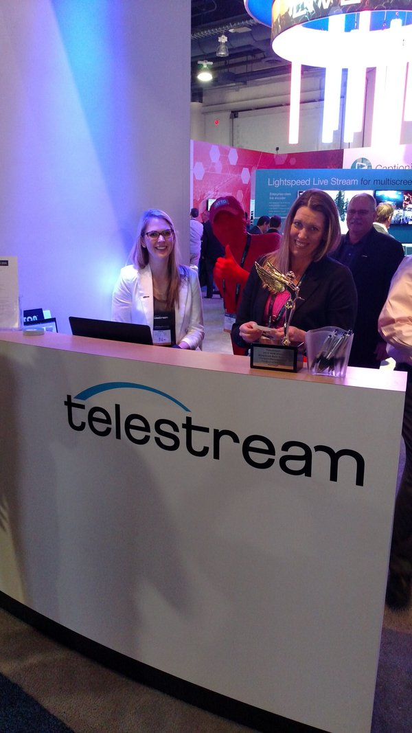 Red at the Telestream booth
